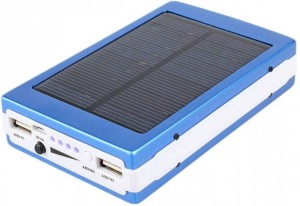 Bluebells India 13000 mAh Solar Power Bank Solar & AC Charging  13000 mAh with 20 LED Lights & Two Output USB Port, Universal Compatibility for Mobile/Smart Phones, Cameras, Tablets & other similar devices 13000 mAh Power Bank