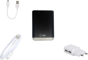 Ortel P-1123 fast charging 2in1 data cable 10400 mAh Power Bank