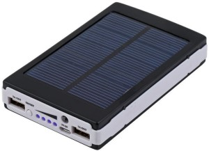 Bluebells India 13000 mAh Solar Power Bank 2 USB Port, Universal Compatibility for Mobile/Smart Phones, Cameras, Tablets & other similar devices (Black) 13000 mAh Power Bank
