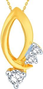 Shuddhi Designer 18kt Diamond Yellow Gold Pendant