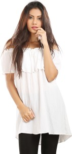 Isa-dora Casual Short Sleeve Solid Women's White Top
