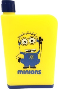 Tuelip NoteBook Water Bottle With a Cartoon Character Design Like Minion 380 ml