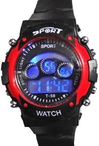 Hala Red In Black Sport Digital Watch  - For Boys & Girls
