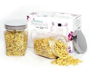 Steelo Squarish  - 1100 ml Plastic Food Storage