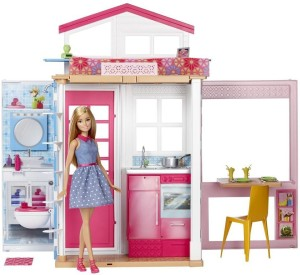 Barbie Barbie 2 Story House And Doll Pink Best Price In India