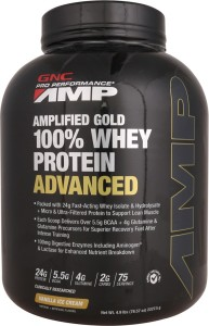 GNC 100 Whey Protein AMP Gold Advanced