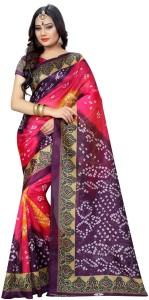 Zypara Self Design Bollywood Silk Saree