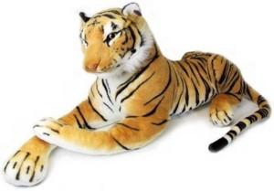 Smartoys Giant Stuffed Tiger Animal Big Tiger Plush Large Brown  - 60 cm