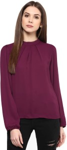 The Bebo Casual Full Sleeve Solid Women's Purple Top
