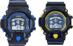 Creator Jiaji Blue And Yellow(Random Colours Available) Return Gift Combo Digital Watch  - For Boys & Girls