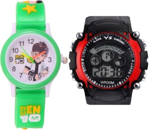 Creator Ben-10 Round Dial And Sports(Random Colours Available) Analog-Digital Watch  - For Boys & Girls