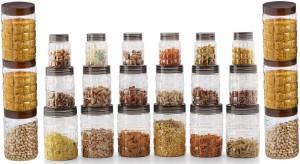 Steelo 24 pcs PET Container Set - 200ml x 6, 300ml x 6, 900ml x 6, 1500ml x 6 (Solitaire)  - 200 ml, 300 ml, 900 ml, 1500 ml Plastic Food Storage