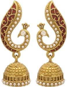 Voylla Artificial Classic Textured Alloy Jhumki Earring