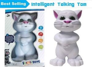 Vivir Touching Talking Tom Cat White Color Quality Toys For Kids