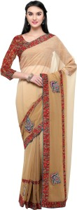 Satya Sita Solid Bollywood Georgette Saree