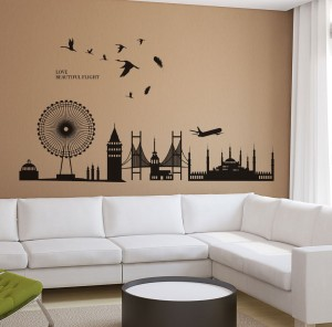 New Way Decals Wall Sticker Scenic Wallpaper