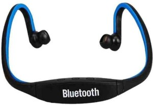 CheckSums 11824 S9 Ear Wireless Bluetooth Neck Band Headset with Mic & Memory Card Reader Wireless bluetooth Headphones