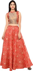 fe6eca65d9c Inddus Cotton Woven Semi stitched Lehenga Choli Material Best Price ...