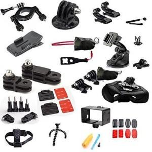 crocon 40-in-1 Outdoor Sports Essentials Kit for GoPro Hero 4 Action Camera Tripod Kit