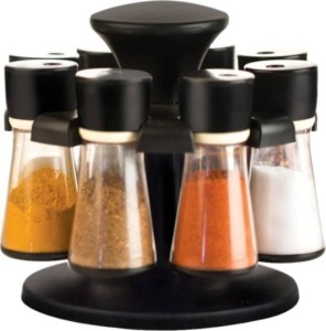 Bright Multipurpose Revolving Spice Rack With 8 Pcs Dispencer  - 100 ml Plastic Spice Container