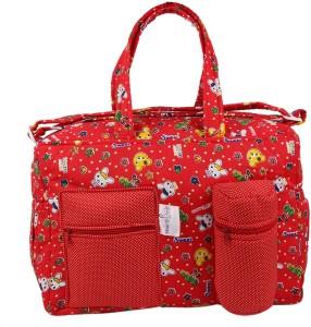 MomToBe Red Kitty Printed Diaper Bag