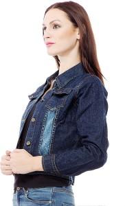 ea334f8f015 Clo Clu Full Sleeve Self Design Women s Denim Jacket Best Price in ...