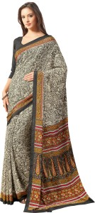 Yetnik Printed Fashion Crepe Saree