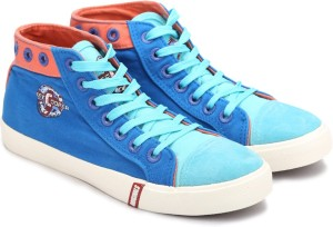 Lee Cooper Canvas Mid Ankle Sneakers