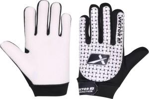 Vector X Practice Goalkeeping Gloves (L, Black, White)