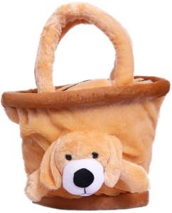 Gifteria Brown Basket Puppy Face Bag  - 25 cm