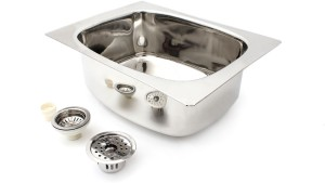 Jasica Active Dlx 18x16x8 .8mm thickness 304 Grade Stainless Steel Vessel Sink