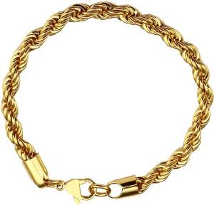 b35475c83e6a4 Men Style Stainless Steel 24K Yellow Gold Bracelet