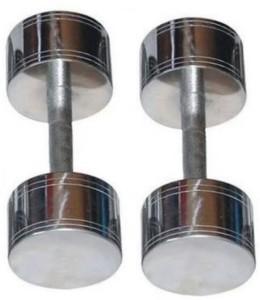 ARNAV 5 Kg * 2 Pcs STEEL CHROME PLATED Fixed Weight Dumbbell