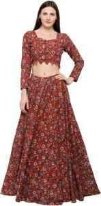 4dd5bd46ed8 Inddus Cotton Self Design Semi-stitched Lehenga Choli Material Price List