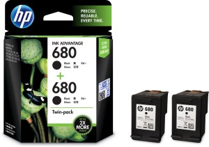 HP 680 Twin Pack Single Color Ink