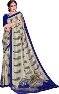 Yetnik Printed Bollywood Crepe Saree