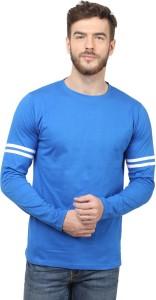 Sayitloud Solid Men's Round Neck Blue, White T-Shirt