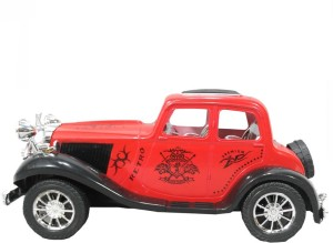 HALO NATION Vintage Car Model Year 1931 - Friction Powered Royal Car Model  Scale 1:32Red