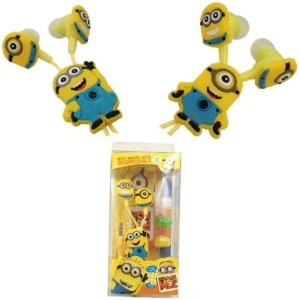 Mezire MInions With Mic Edition Earphones (Yellow, In the Ear) K33 Headphones