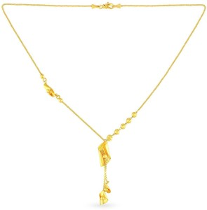 Malabar Gold and Diamonds MHAAAAABWPFT Lariat Yellow Gold Precious  Necklace22kt Not Plated Plated