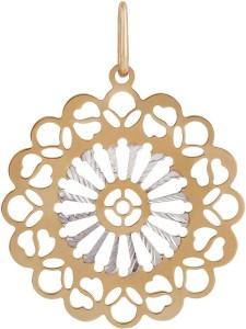 TBZ TheOriginal Floral 14kt Rose Gold Pendant