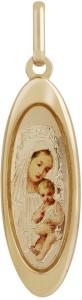 TBZ TheOriginal Mother Marry 14kt Yellow Gold Pendant