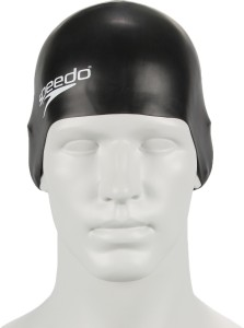 Speedo Unisex-Junior Plain Moulded Silicone Swimming Cap