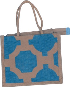 b453e7958 ABV traders Lunch Bag Jute Bag Hand Held Bag Small Size Blue Color ...