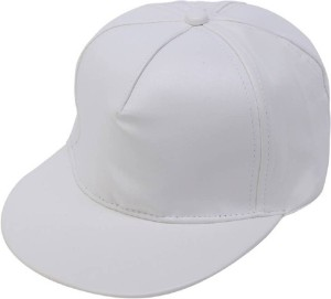143e7d3f9b8 Babji White Leather HipHop Cap Best Price in India