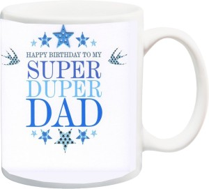 IZor Gift For Father Daddy Pop PapaHappy Birthday Super Duper Dad