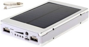 Benison India 13000 ™ Solar Power bank 2 USB Output Port, 20 LED Light compatible for Mobile/Smart Phones, Cameras, Tablets & other similar devices 13000 mAh Power Bank