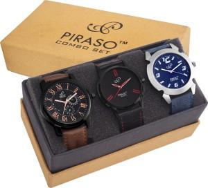 PIRASO PW3-9102 Combo Of 3 Trendy Watches DECKER Analog Watch  - For Men