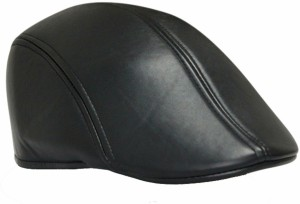 Friendskart Self Design Golf Cap In Black Colour leather Cap