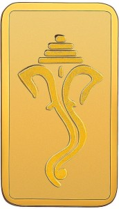 RSBL BIS Hallmarked Ganesh Head Design Precious 24 (999) K 2 g Yellow Gold Bar